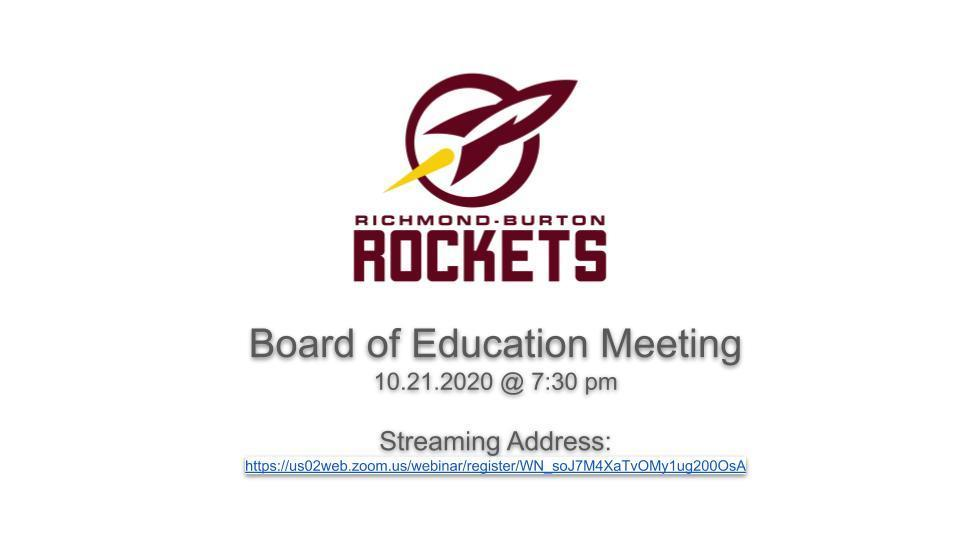 Streaming Link for BOE Meeting