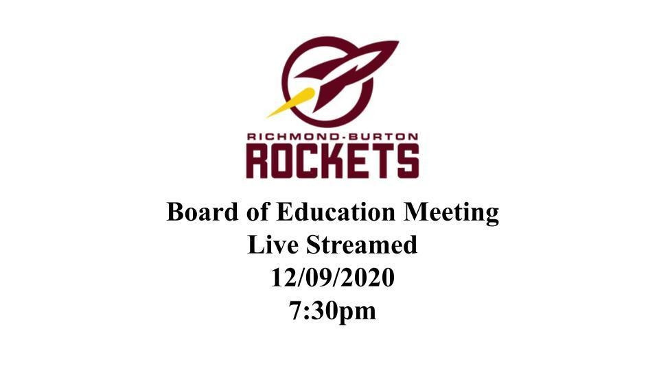 BOE Meeting to be Live Streamed