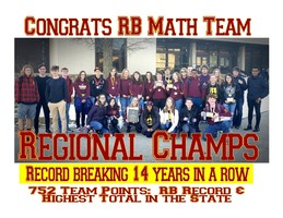 RB Math Team:  Regional Champs