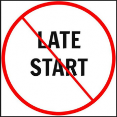 No late start icon
