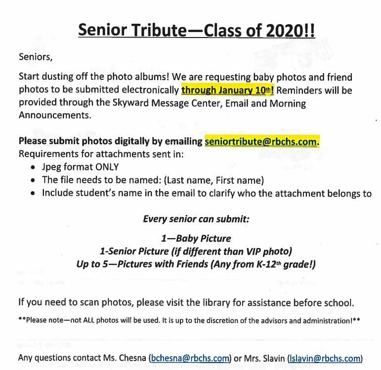 Senior Tribute Flyer