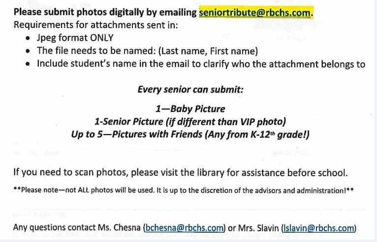 Senior Tribute Submission info