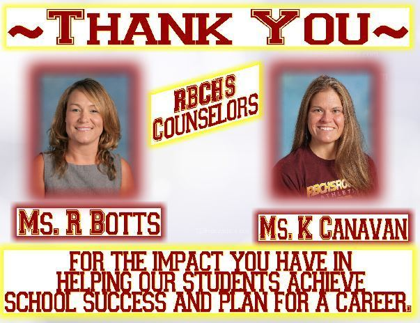 Ms. Botts/Ms. Canavan Thank You