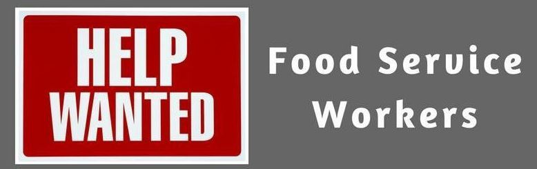 Help Wanted:  Food Service Workers Icon