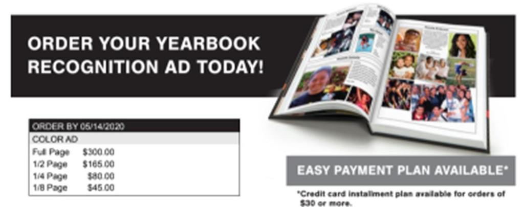 Yearbook Recognition Ad Deadline Extended