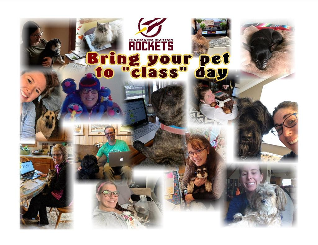 "RB faculty & staff participate in ""Bring your pet to class"""