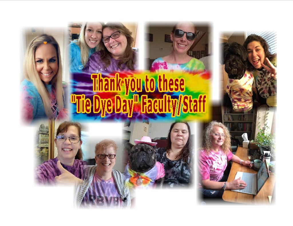RB Faculty and Staff Tie Dye collage