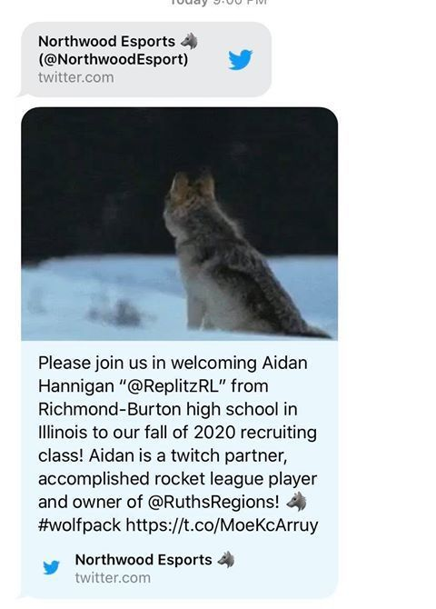 Aidan Hannigan's recruit announcement.
